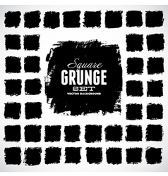 Set of grunge squares vector image