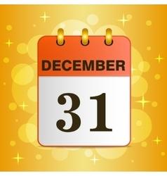 Sheet Desktop calendar on a yellow background vector image vector image