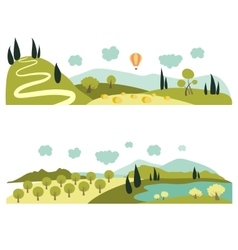 Summer landscapes vector image vector image