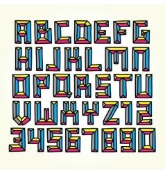 Cmyk font set vector image vector image