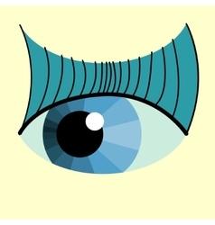 color eye design vector image