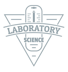 laboratory logo simple gray style vector image vector image