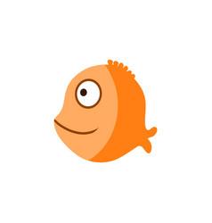 orange ocean fish cartoon vector image vector image