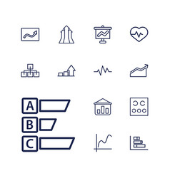 13 chart icons vector