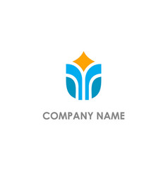 abstract building company logo vector image
