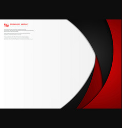 Abstract gradient red and black tech template vector
