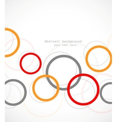 Abstract tech background with circles vector image