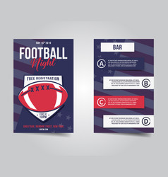 American football flyer sports party night layout vector