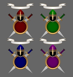 Armor knight Set vector image