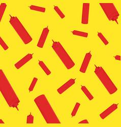 background ketchup bottle vector image