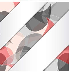 Background with ribbons vector image