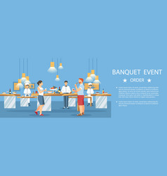 Banquet event hall center banner color template vector