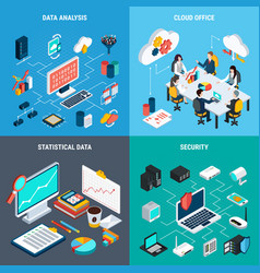 Big data 2x2 design concept vector