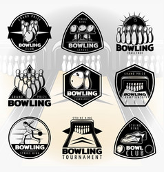 Black vintage active leisure labels set vector