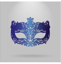 Blue carnival mask mardi gras vector