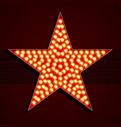 Broadway style light bulb star shape vector