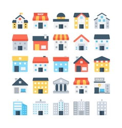 Building Colored Icons 6 vector