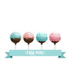 cake pops set vector image vector image