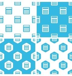 Calculator patterns set vector