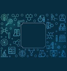 chemistry outline blue frame science vector image