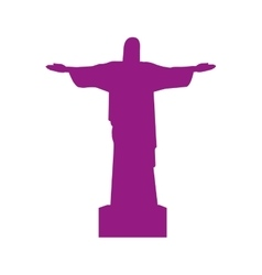 Christ of corcovado landmark icon vector