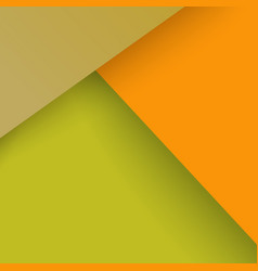 Collage with orange yellow triangles layers vector