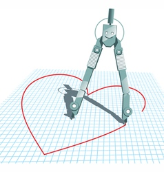 Compasses in Love vector