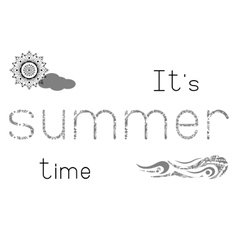 Cute print - summer time vector