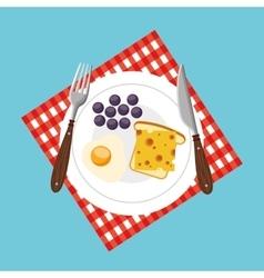 Delicious and healthy breakfast icon vector