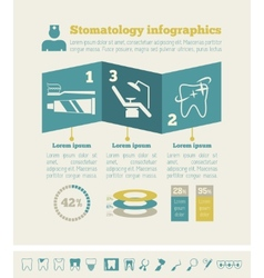 Dental Infographic Template vector