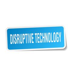Disruptive technology square sticker on white vector