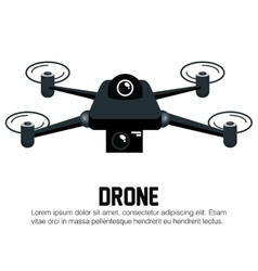 drone black icon graphic vector image