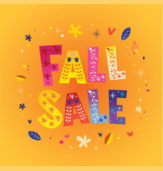 Fall sale vector