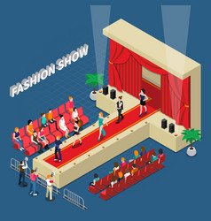 Fashion show isometric composition vector