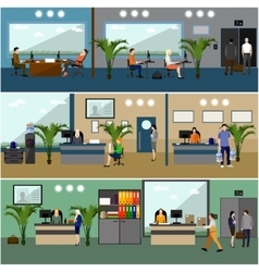 Flat design of business people or office workers vector