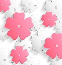 Flat flower background vector