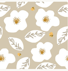 floral abstract daisy flower seamless pattern vector image