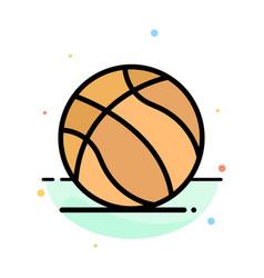 football ball american usa abstract flat color vector image
