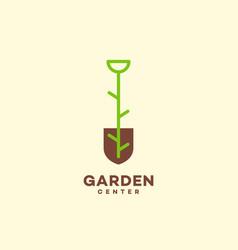 garden center logo vector image