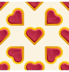 Golden Heart Pattern vector image