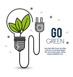 green eco bulb light vector image