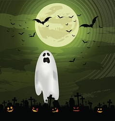 halloween ghost background 0609 vector image