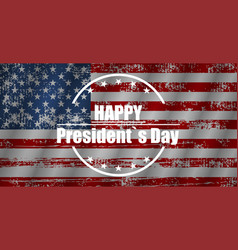 happy presidents day in flat design vector image