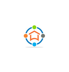 home realty technology logo vector image