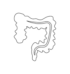 Intestines icon outline style vector image