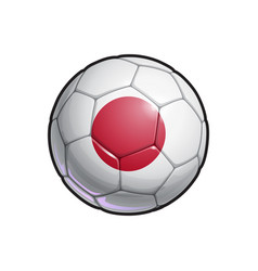 Japanese flag football - soccer ball vector