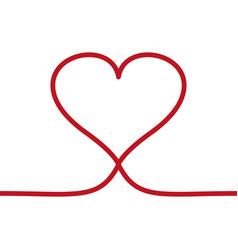 line heart icon love symbol valentines vector image