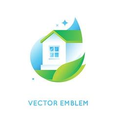 Logo design template in bright green gradient vector