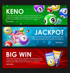 lottery raffle keno bingo jackpot big win lotto vector image