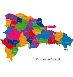 Map of dominican republic vector